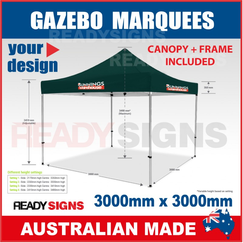 sc 1 st  Ready Signs & Gazebo Marquee 3M X 3M with Printed Canopy