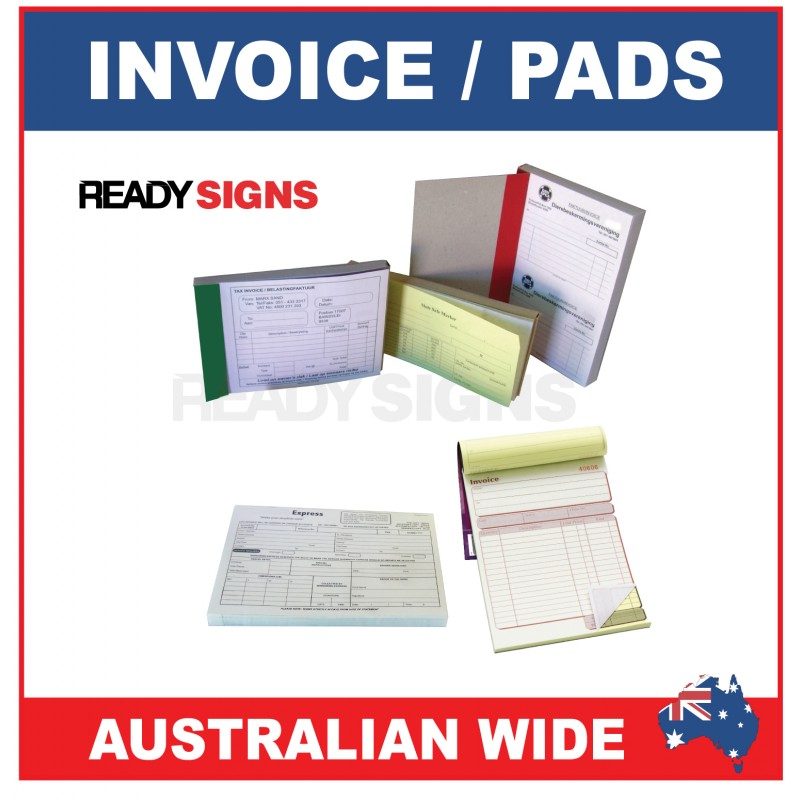Ready Print Custom Invoice Pads - Custom invoice pads