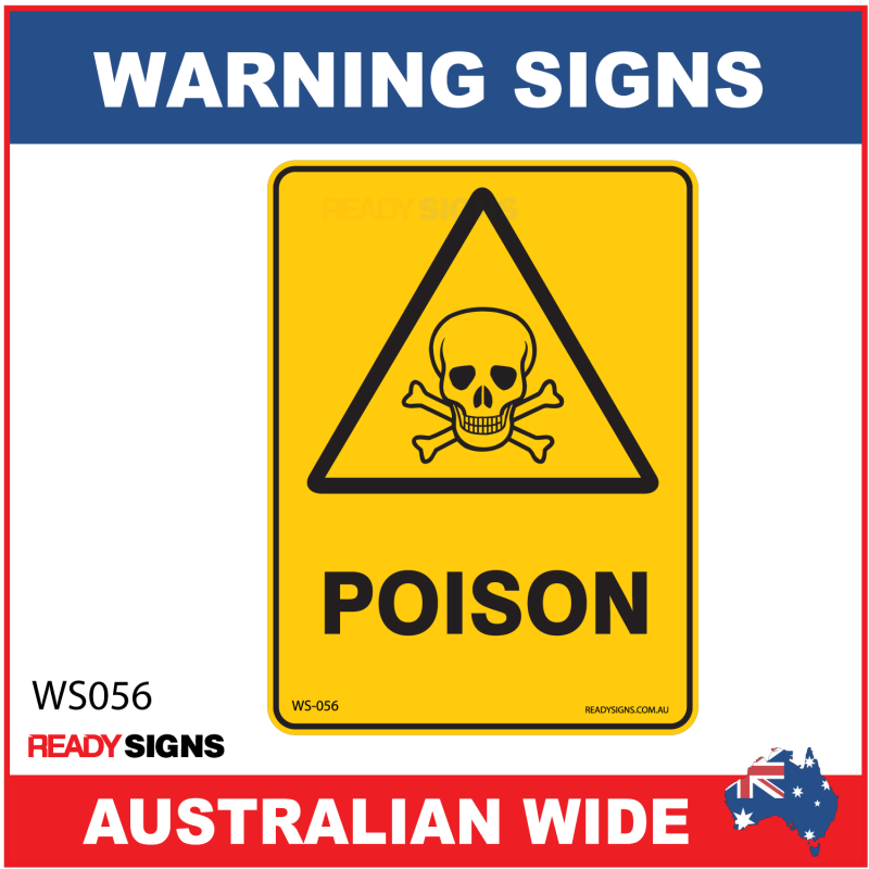 warning sign ws056 poison